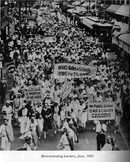 Chicago teacher protest June 1933