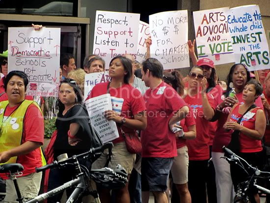 Chicago teacher rally July 2012